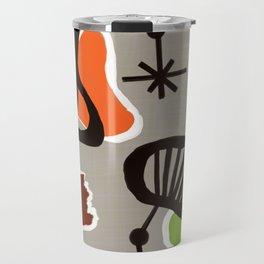 Mid Century Art Backcloth Inspired Travel Mug