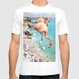 Flamingos on the Beach #society6 #decor #buyart T-shirt
