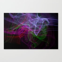 Smooth smoke waves of multiple colors Canvas Print