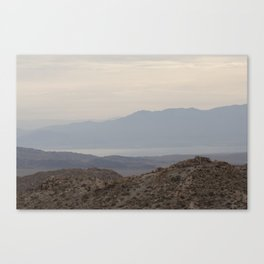 the desert sandscape Canvas Print