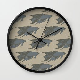 Fish Pattern Wall Clock