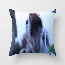 Excited doggy Throw Pillow