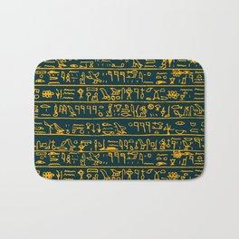 Egyptian hieroglyphs Bath Mat