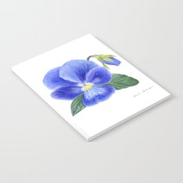 Purple Pansy by Teresa Thompson Notebook