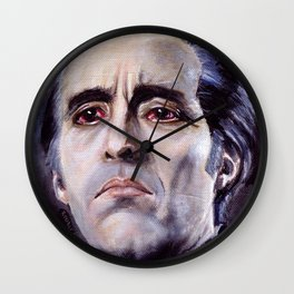 Christopher Lee as Dracula: He is the embodiment of all that is evil. Wall Clock