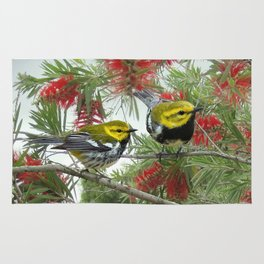 Black-throated Green Warbler Rug