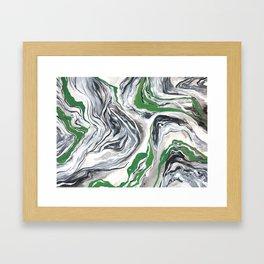 MARBLE JUMBLE Framed Art Print