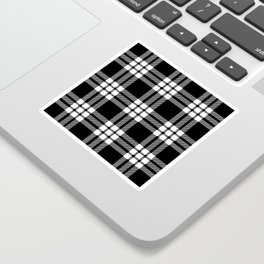 MacFarlane Black + White Tartan Modern Sticker