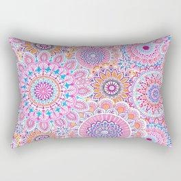 Mandala Maze Pink Rectangular Pillow