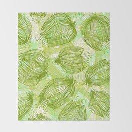 Verde que te quiero Verde Throw Blanket
