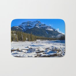 Mount Kerkeslin in Jasper National Park, Alberta Bath Mat