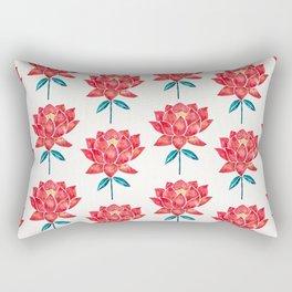 Sacred Lotus – Red Blossom Rectangular Pillow
