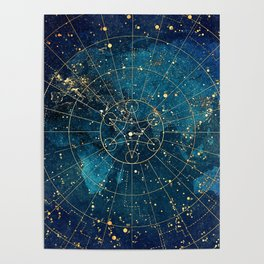 Star Map :: City Lights Poster