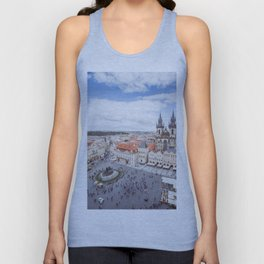 Old Town Square in Prague Unisex Tank Top