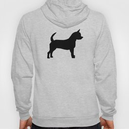 Chihuahua silhouette black and white pet art dog pattern minimal chihuahuas Hoody