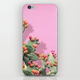 Prickly Pear plants on Pink iPhone Skin