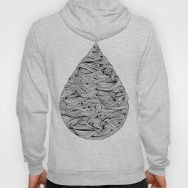 Water Drop – Black Ink Hoody