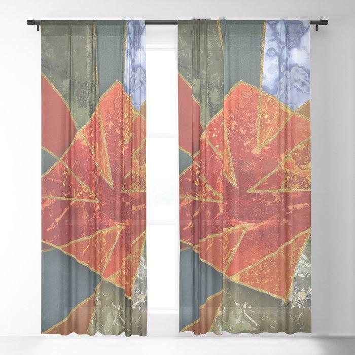 Abstract #330 Sheer Curtain
