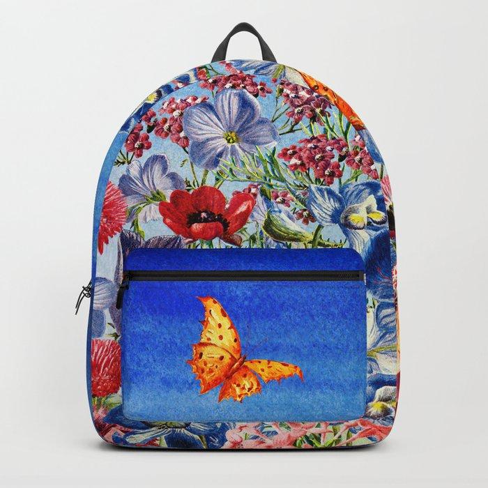 Summer Flower Meadow - Watercolor illustration Backpack