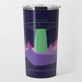 Desert ufo island Travel Mug