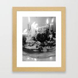 Wax and fire alter Framed Art Print