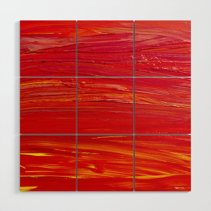 Shades of Red Wood Wall Art