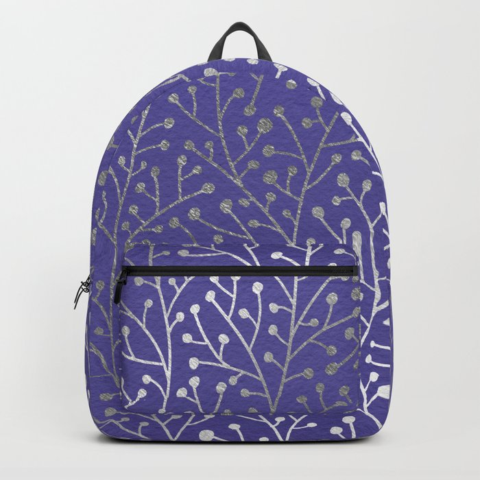 Periwinkle Berry Branches Backpack