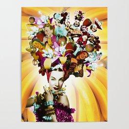 Carmen Miranda Collage Poster