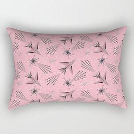 Space Planes & Shooting Stars - Pink Rectangular Pillow