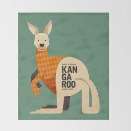 Hello Kangaroo Throw Blanket