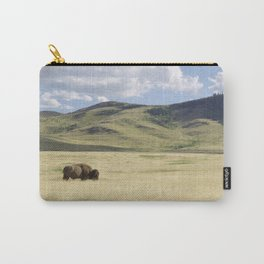 Alone Time - Bison on Range Carry-All Pouch