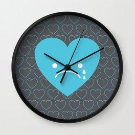 Sad Heart Wall Clock