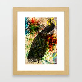 Splatter Peacock Framed Art Print