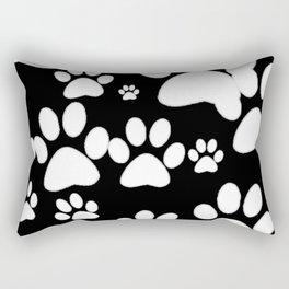 Paw Print Pattern Rectangular Pillow