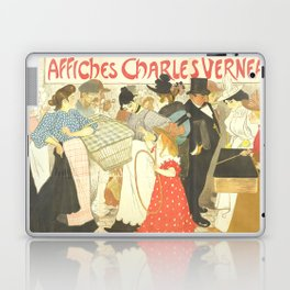 """Théophile Steinlen """"The Street (La rue), poster for the printer Charles Verneau"""" Laptop & iPad Skin"""