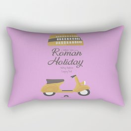 Roman Holiday, Audrey Hepburn,movie poster, Gregory Peck, William Wyler, romantic hollywood film Rectangular Pillow