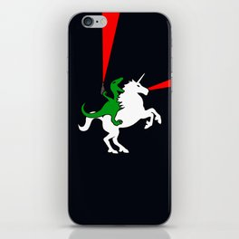 Dinosaur Riding Unicorn (With Lasers) iPhone Skin