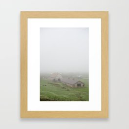 Foggy Oregon Barn Framed Art Print