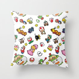 It's a really SUPER Mario pattern! Throw Pillow