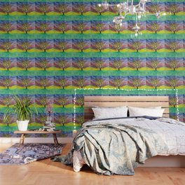 Entanglement, colorful tree landscape, beautiful landscape, cypress tree Wallpaper