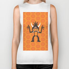 3 Eye Monster Biker Tank