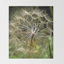Tragopogon Wildflower Salsify Throw Blanket