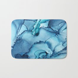 The Blue Abyss - Alcohol Ink Painting Bath Mat