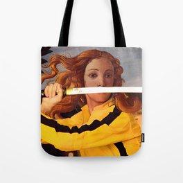 Botticelli's Venus & Beatrix Kiddo in Kill Bill Tote Bag