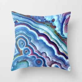 Agate chalcedony Throw Pillow