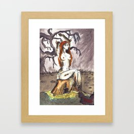 Dragon princess Framed Art Print
