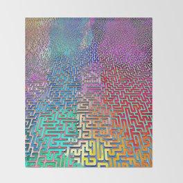 Rainbow Complex Maze Throw Blanket