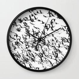 SANDHILL CRANES Wall Clock