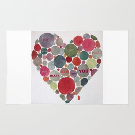 VALENTINE, my heart beats for you Rug