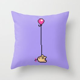 Fishing for Birdies (Mr. Saturn) - Mother 3 Throw Pillow